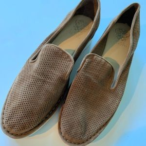 New Vince Camuto Perforated leather/suede flats